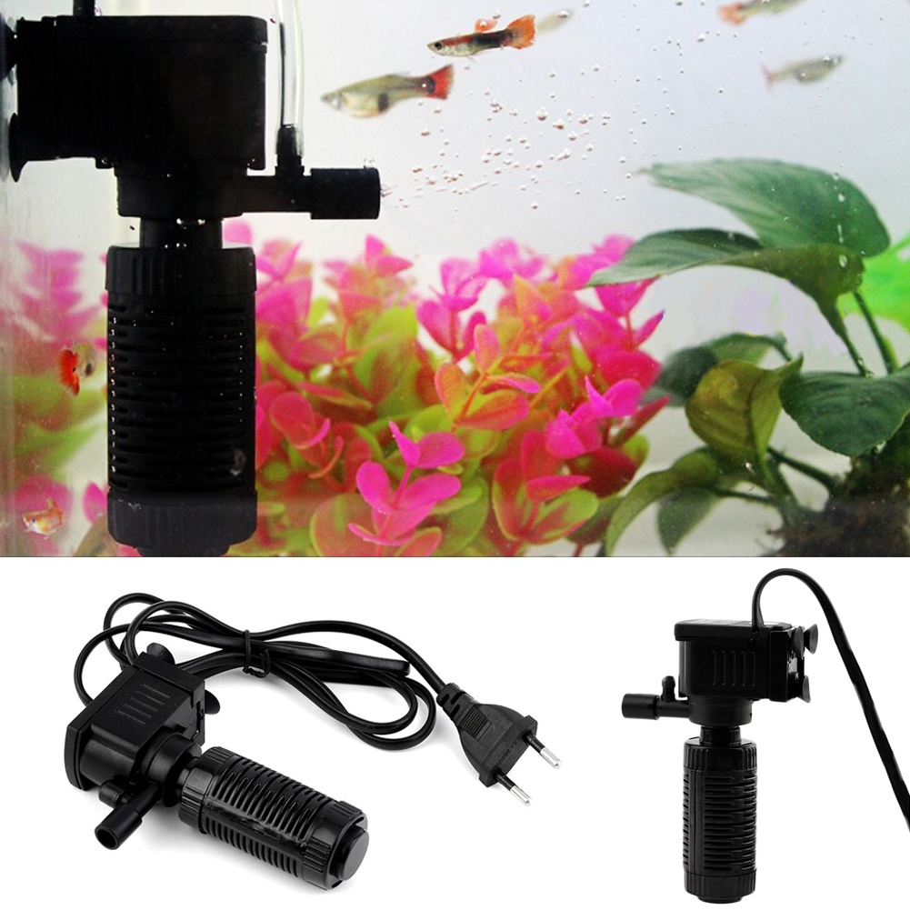 new Mini 3 in 1 Aquarium Internal Filter Fish Tank Pump Spray Plastic Submersible Filters for Fishing Cleaning