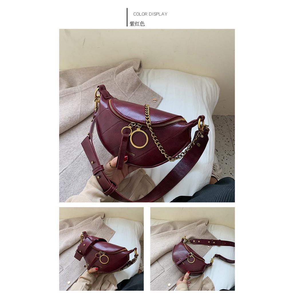 โค้ด FASHAP2 รับเงินคืน 20% Minibag กระเป๋าสะพายข้างผู้หญิงกระเป๋าคาดอก สไตล์มินิมอล สไตล์เกาหลีหนังเกรดพรีเมี่ยม