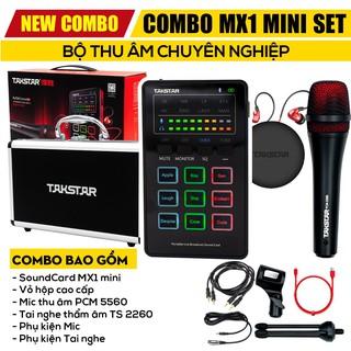 【Chính hãng】Combo bộ Mic Thu âm takstar MX1 mini, Hát Karaoke, Livestream cực hay, Đủ bộ, hàng bảo hành 1 năm