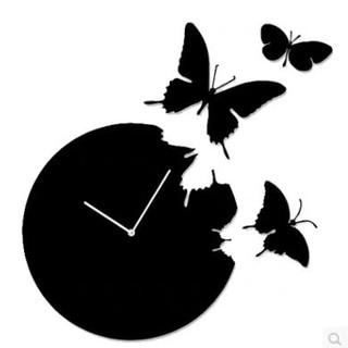 Đồng hồ cánh bướm - Butterfly Round Clock thumbnail