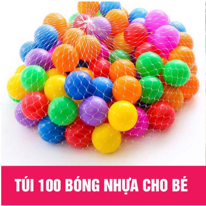 100 Bóng Nhựa Mềm nhiều màu sắc An toàn Cho Bé.