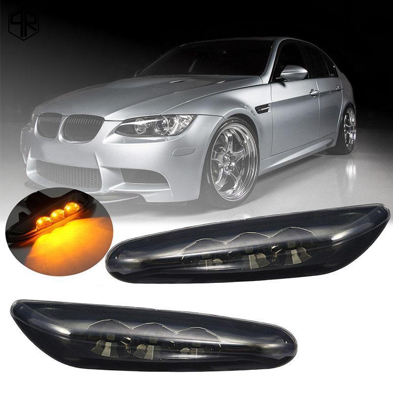 QR for BMW E82 E61 Turn Signal Light LED 2PCS Warning Lamp Durable