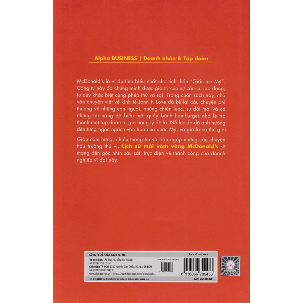 Sách - Lịch sử mái vòm vàng Mcdonald's