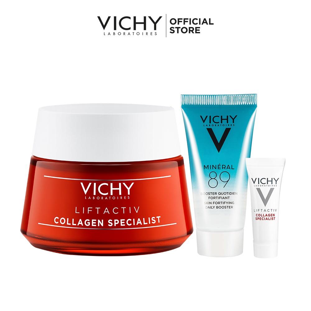 Bộ kem dưỡng hỗ trợ săn chắc, ngăn ngừa lão hóa và phục hồi da Vichy Liftactiv Collagen Specialist