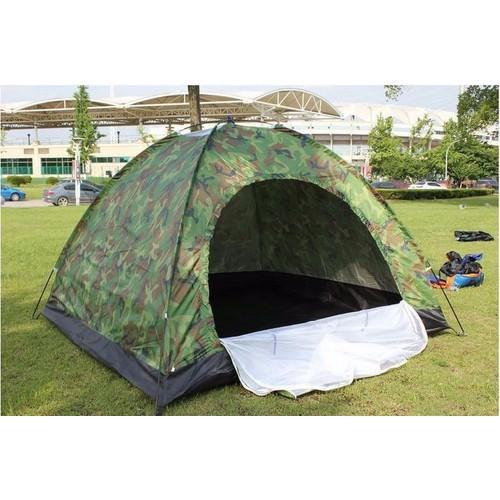 Lều Cắm Trại 4 Người Rằn Ri Bộ Đội Cực Chất, Lều Phượt