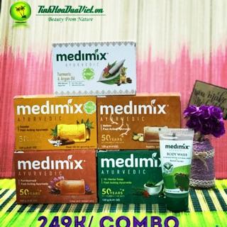 (6sp- 125g)💠💠Combo trải nghiệm trọn bộ xà phòng Medimix Ngừa Mụn Sáng Da 🧼🧼🧼
