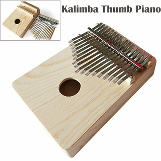 17 Tones Kalimba African Solid Mahogany Wood Thumb Piano Finger Percussion Gifts