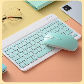 Hình ảnh GOOJODOQ Bộ bàn phím + chuột máy tính không dây bluetooth nhiều màu sắc nhỏ gọn cho iPhone/ iPad (có bán lẻ bàn phím)-0