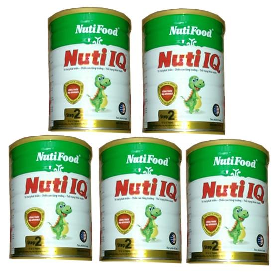 Combo 5 hộp Sữa bột NutiFood Nuti IQ Step 2 (900g)