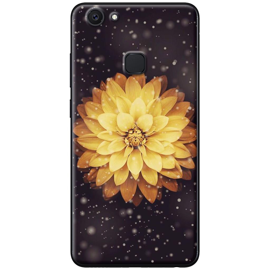 Ốp lưng Vivo V7, V7 Plus - nhựa dẻo Hoa cúc vàng