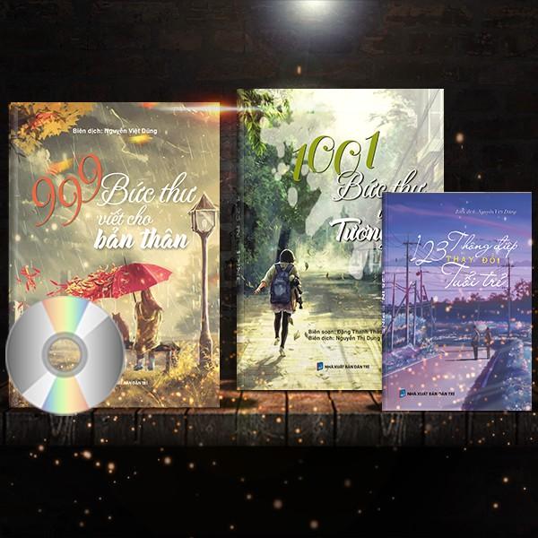 [Quà tặng #99k] 3 Sách: 1001 Bức Thư Viết Cho Tương Lai + 999 Bức Thư Viết Cho Em + 123 Thông Điệp (Có DVD quà tặng)