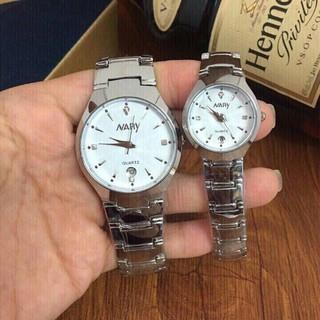 Giá sỉ - Đồng hồ cặp đôi nam nữ dây thép Nary Thời trang thumbnail