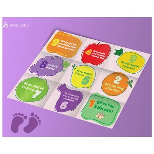Đồ chơi – Hành trình rau củ – Boardgame Wabooks tương tác giữa bố mẹ và bé – Dành cho lứa tuổi 2-4