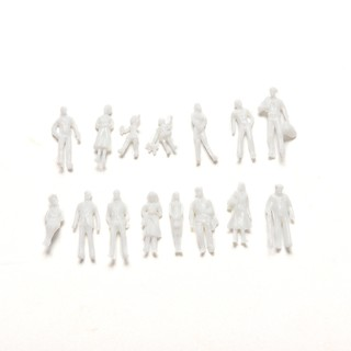 100 Pcs/set Scale 1:100 White Model People Unpainted Landscape Models DIY Toys