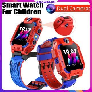 Đồng hồ điện thoại trẻ em Z6, đồng hồ thông minh camera kép, định vị GPS, phù hợp với Android / iOS