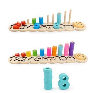 Đồ chơi giáo dục bộ cọc đếm số vòng