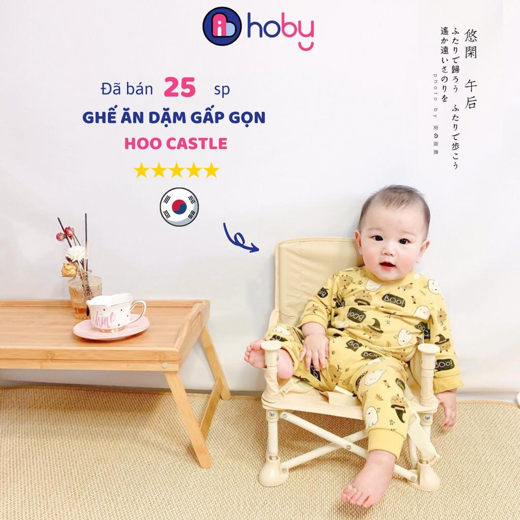 Ghế ăn dặm cho bé đa năng gấp gọn bản Hàn - Ghế ngồi tập ăn dặm cho trẻ từ 6 tháng, tiện lợi đi du lịch, cắm trại [HOBY]