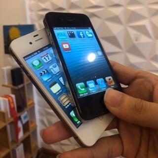Điện thoại iphone 4s quốc tế lắp được sim chơi fb zalo youtube