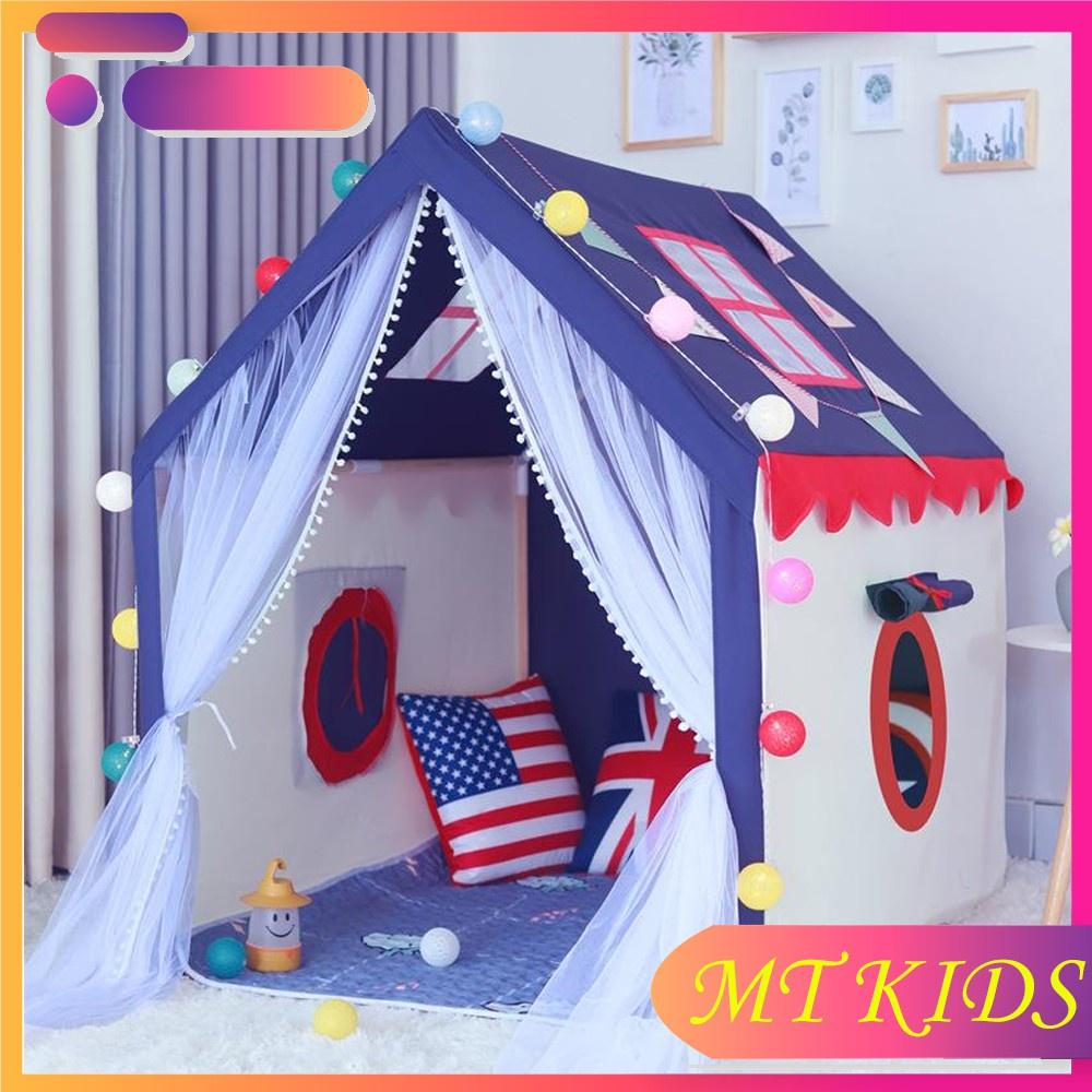 ♛◑Lều Hoàng Tử Và Công Chúa 💝CỰC ĐẸP💝 Lều cho bé, Lều vải trẻ em đẹp, dễ tháo lắp, gấp lại dễ dàng, tiết kiệm không gi