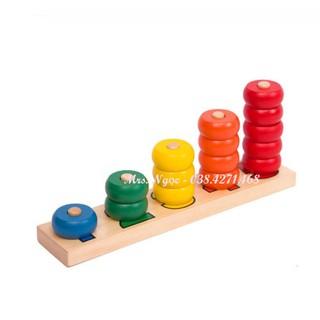 Giáo cụ Montessori – Bảng học số và lượng