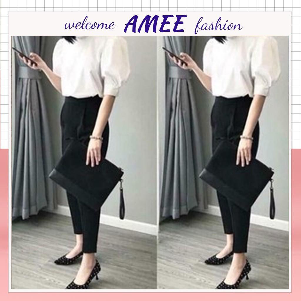 Quần baggy chun sau khoá hông Amee Fashion