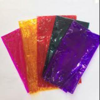 Combo 6 tấm Giấy kiếng Màu Trung thu gồm : hồng, cam, đỏ, xanh lá, tím,xanh dương