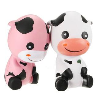 Squishy Bò Sữa Jumbo màu trắng(14x13cm) / Hello Baby |Loamini565 Dcận