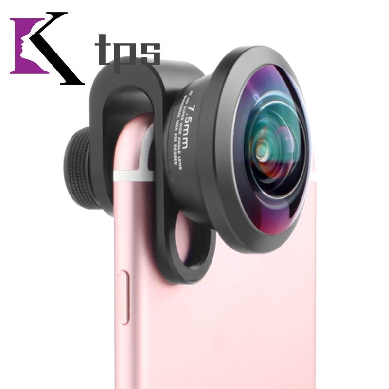 Full Screen Mobile Phone Lens 238 Degree Stereoscopic Photo Camera Lens 7.5mm Angle Field