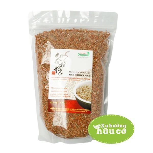 Gạo lứt đỏ hướng hữu cơ Quế Lâm túi 1kg