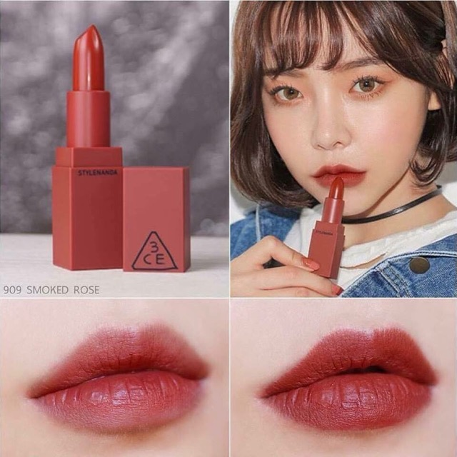 Son thỏi 3CE Mood Recipe Matte Lip Color màu 909 - Smoked Rose | Shopee  Việt Nam