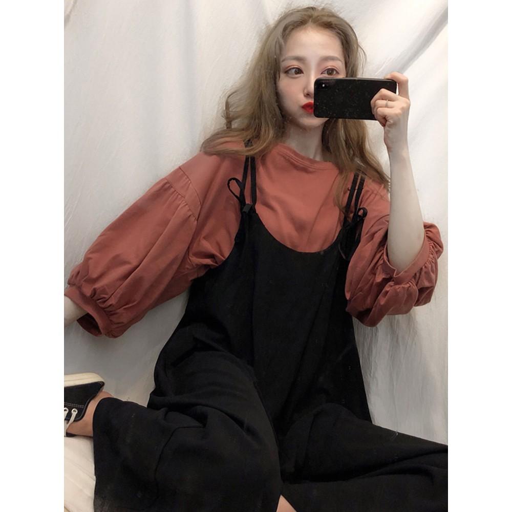 Set quần dài và áo tay lửng phong cách Hàn Quốc quyến rũ cho nữ - 13791189 , 2076667834 , 322_2076667834 , 299064 , Set-quan-dai-va-ao-tay-lung-phong-cach-Han-Quoc-quyen-ru-cho-nu-322_2076667834 , shopee.vn , Set quần dài và áo tay lửng phong cách Hàn Quốc quyến rũ cho nữ