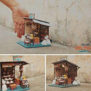 Mô hình nhà gỗ DIY – AD06 – Tiệm gạo tí hon (Tặng keo Siliglue 20ml)