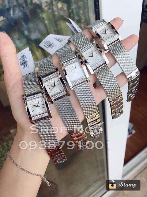 Đồng hồ nữ GUESS mặt chữ nhật bạc - đồng hood nữ chống nước - đồng hồ thời trang