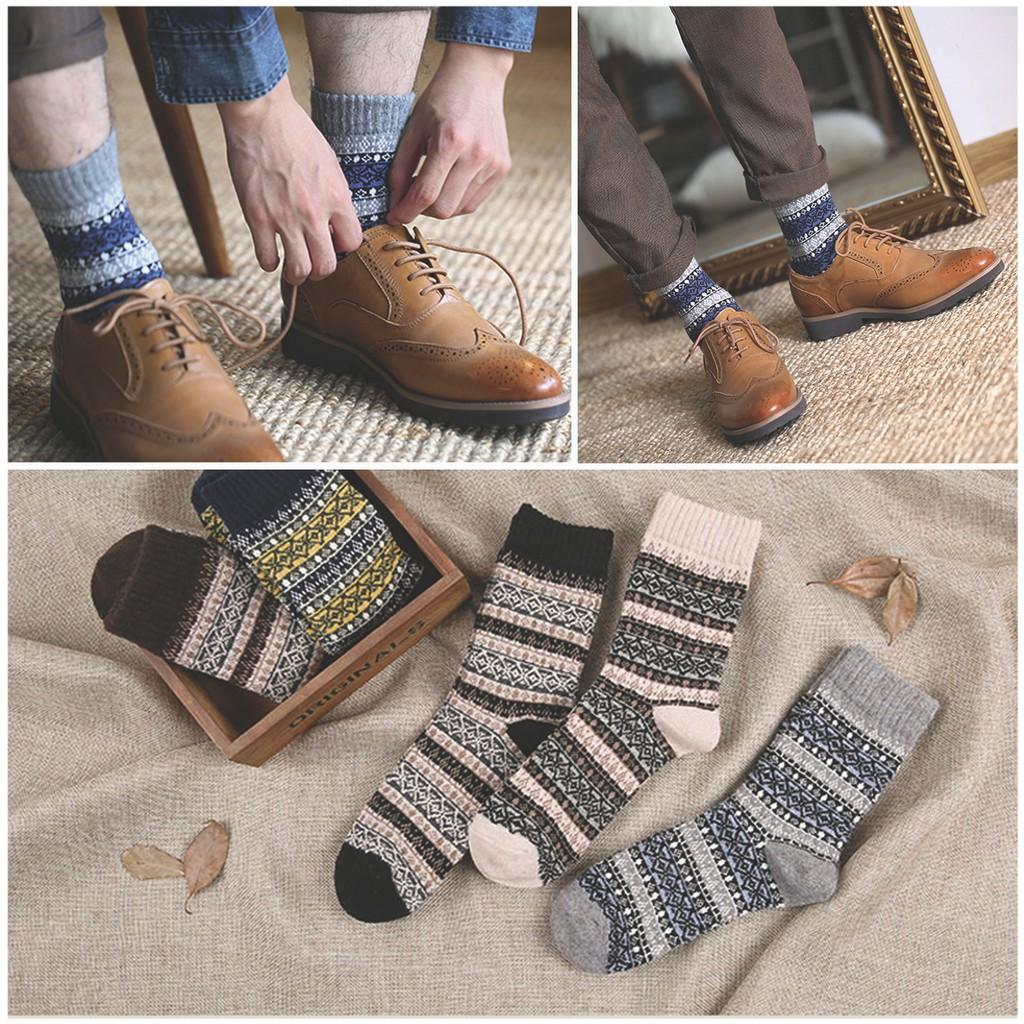 Set 5 đôi tất thổ cẩm loại xịn cho nam phong cách quý ông đi kèm giày tây [Ảnh Thật]