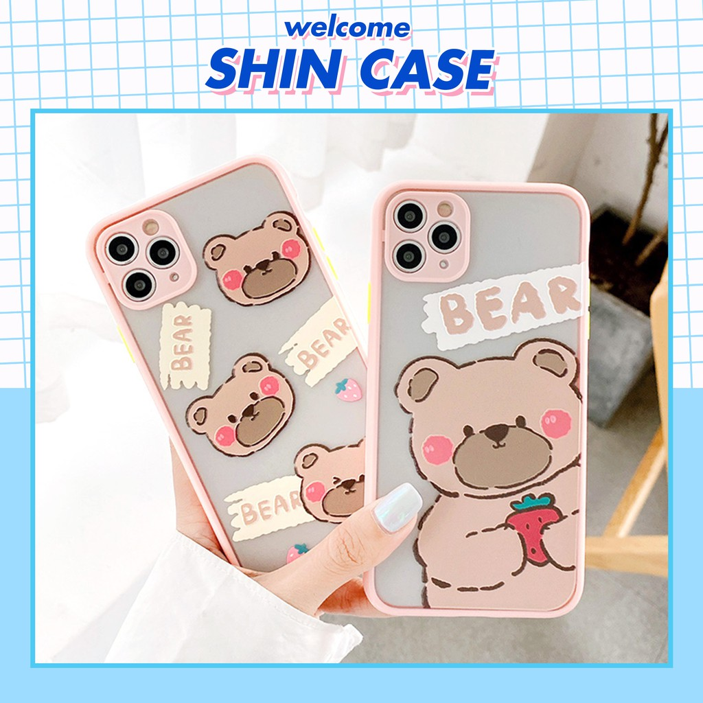 Ốp lưng iphone Shy Bear nhỏ bảo vệ camera 5s/6/6plus/6s/6splus/6/7/7plus/8/8plus/x/xs/xsmax/11/11pro/11promax– Shin Case