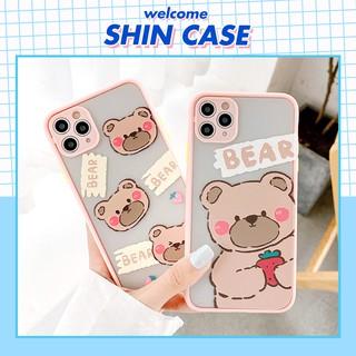 Ốp lưng iphone - Ốp iphone Shy Bear nhỏ BVC 5 5s 6 6plus 6s 6splus 7 7plus 8 8plus x xr xs 11 12 pro max plus promax thumbnail