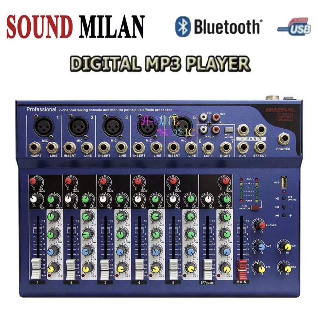 SOUND MILAN มิกซ์เซอร์ Blutooth 7Ch EQ-506F6
