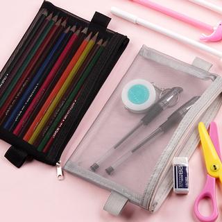 Túi đựng bút chì lưới trong suốt, Hộp đựng bút chì có dây kéo, Túi xách tay, Túi trang điểm Nam sinh Nữ sinh Trường học