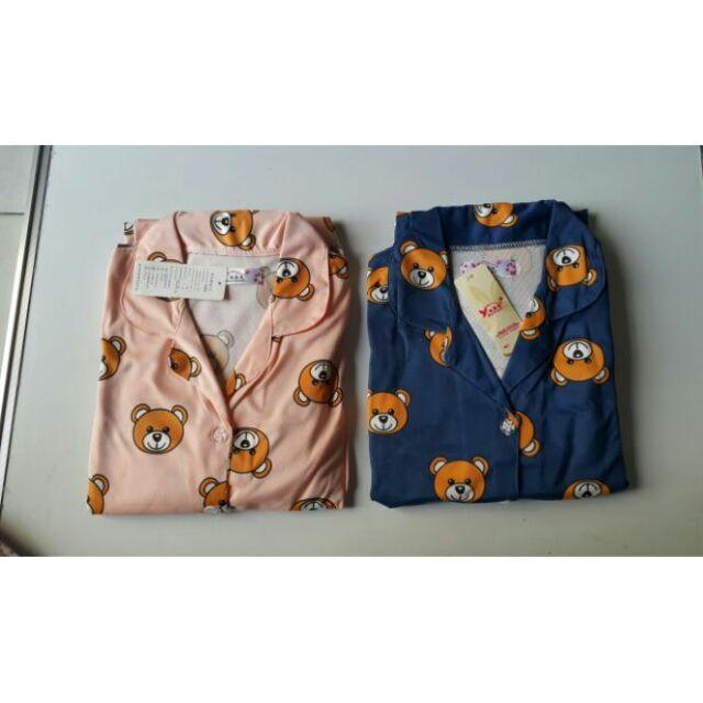 Bộ pyjama dài gấu