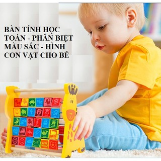 Bộ học chữ và số đa năng hình con hươu trí tuệ cho bé_Đồ chơi gỗ_babyvnshop4