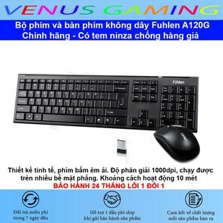 Bộ chuột và bàn phím không dây Fuhlen A120G – Màu đen – Chính hãng – Có tem ninza chống hàng giả – BH 24 tháng