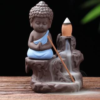 Thác Khói Trầm Hương Trang Trí Phong Cách Phật Giáo