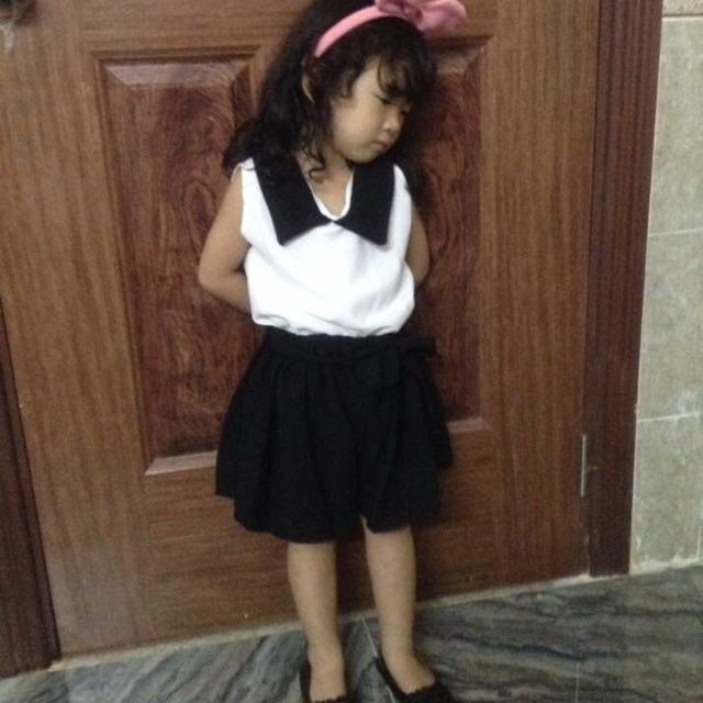 set áo voan quần giả váy đang yêu cho bé gái - 3249773 , 407808453 , 322_407808453 , 715000 , set-ao-voan-quan-gia-vay-dang-yeu-cho-be-gai-322_407808453 , shopee.vn , set áo voan quần giả váy đang yêu cho bé gái