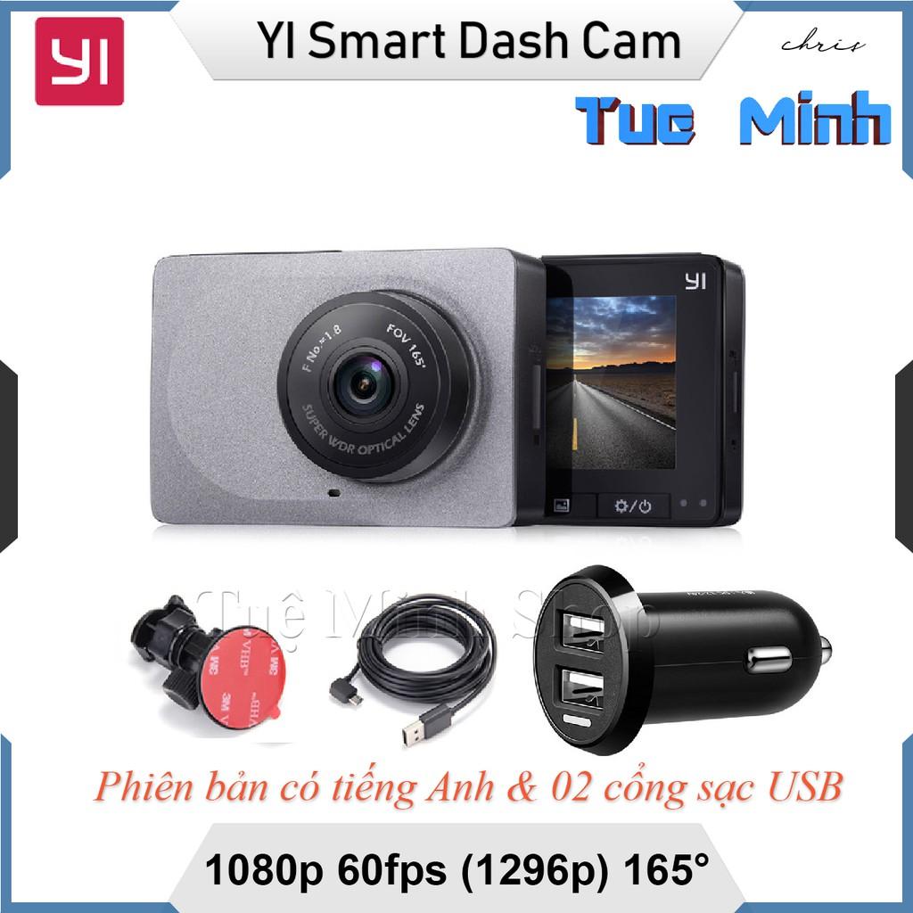 Camera hành trình Xiaomi YI Car Smart Dash Camera 1296p - phiên bản tiếng Anh 2 cổng sạc USB - 3063973 , 1109033183 , 322_1109033183 , 1050000 , Camera-hanh-trinh-Xiaomi-YI-Car-Smart-Dash-Camera-1296p-phien-ban-tieng-Anh-2-cong-sac-USB-322_1109033183 , shopee.vn , Camera hành trình Xiaomi YI Car Smart Dash Camera 1296p - phiên bản tiếng Anh 2