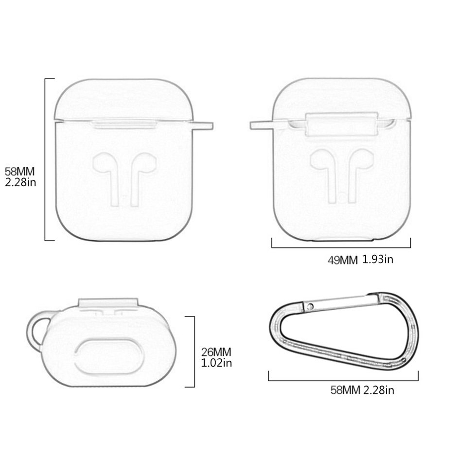 Phụ kiện silicon chống thất lạc cho tai nghe Apple Airpods