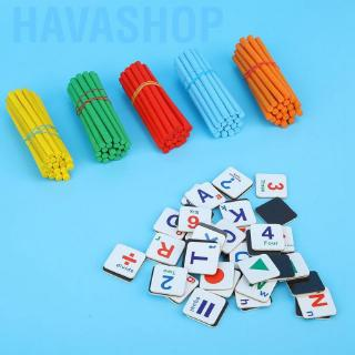 Havashop Kids Wooden Learning Box Early Educational Toy Math Aids Counting Sticks Blocks