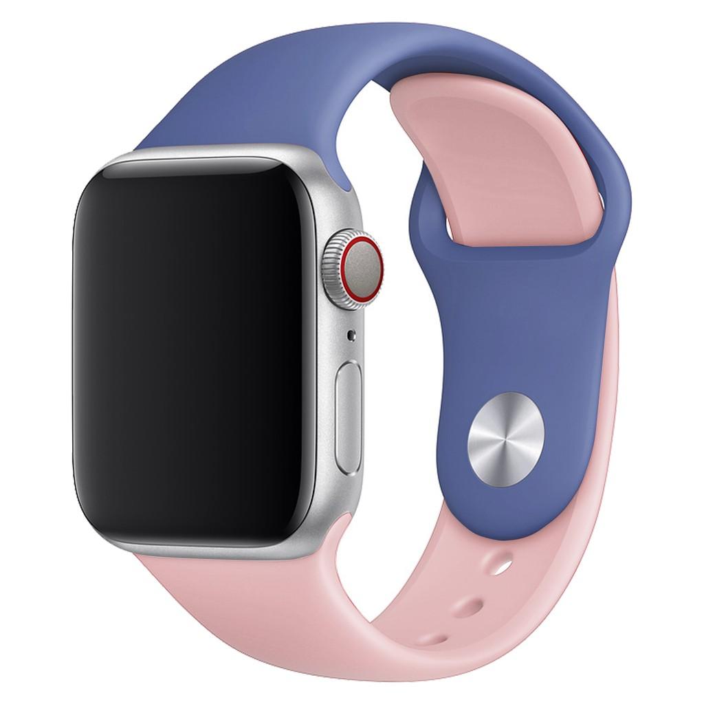 Đồng hồ thể thao dây silicone nhiều màu cho Apple Watch iWatch 38 42mm