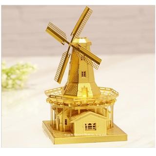 Piececool _ Mô hình lắp ráp 3D kim loại _ Cối Xoay Gió Vàng_Dutch Windmill