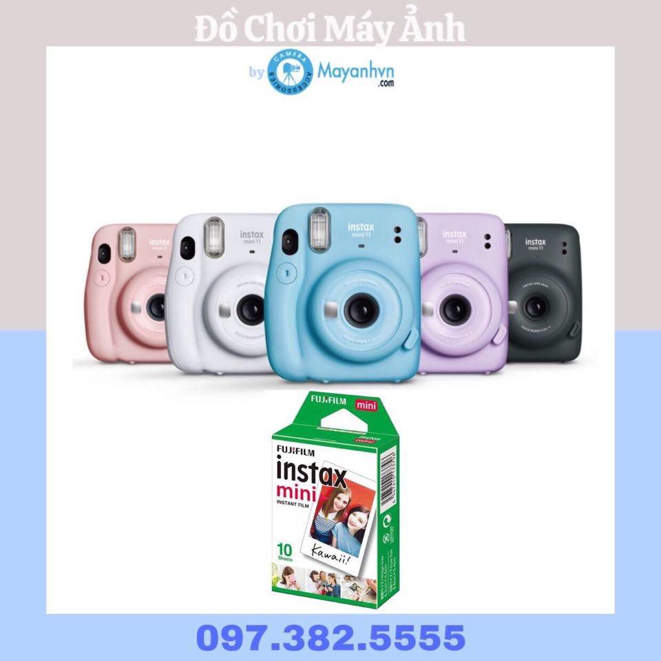Instax Mini 11- Máy chụp ảnh lấy liền (Chính hãng- Bảo hành 12 tháng)- Tặng kèm 1 pack film mini
