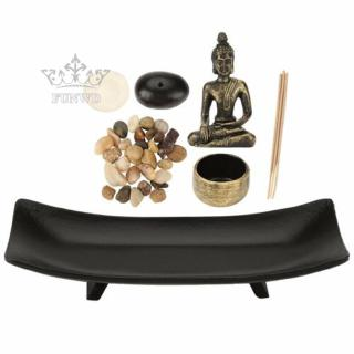 Useful Buddhism Stick Tea House Crafts Resin Home Temple Decoration 25.5*9.8*4cm Ornament Candles Stone Incense Holder
